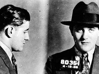 """Mugshot of Jewish-American mobster Benjamin """"Bugsy"""" Siegel in the 1920s. (Credit: New York Police Department)"""