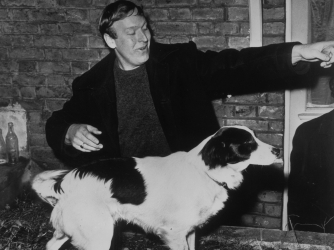 David Corbett with his dog Pickles. (Credit: Keystone/Getty Images)