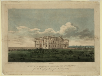 View of the White House after the conflagration in August 24, 1814. (Credit: Heritage Images/Getty Images)