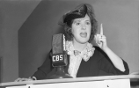 "Gracie Allen campaigning as the ""Surprise Party"" candidate in 1940. (Credit: CBS via Getty Images)"