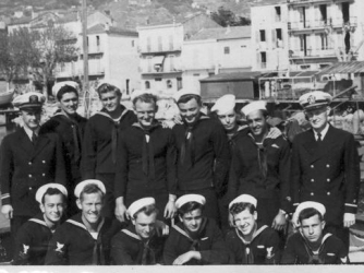 PT-305's crew in the Mediterranean. (From the collection of PT-305 veteran Joseph Brannan, courtesy of The National WWII Museum)