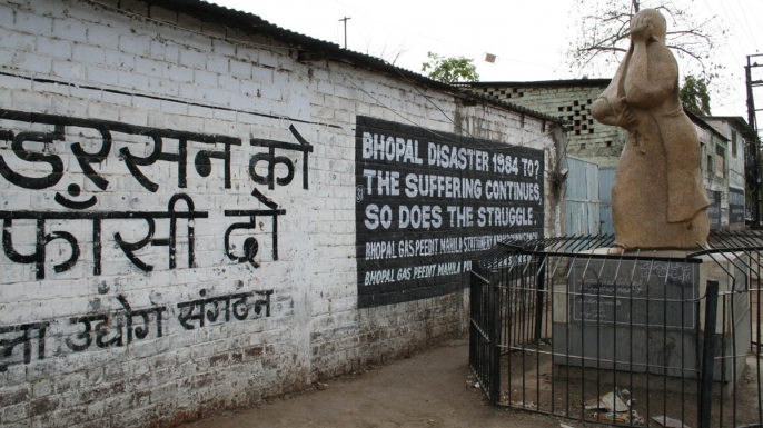 Bhopal memorial for those killed and disabled by the 1984 toxic gas release. (Credit: Luca Frediani)