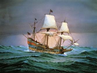Francis Drake's ship, Golden Hind. (Credit: DeAgostini/Getty Images)