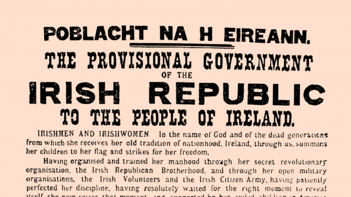 Easter Proclamation of Irish Independence during the Easter Rising 1916. (Credit: Universal History Archive/Getty Images)