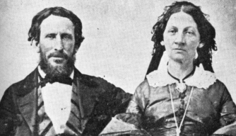 James F. and Margaret (Keyes) Reed, who were members of the Donner Party. (Credit: Public Domain)