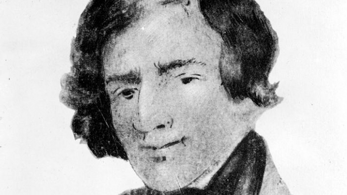 Drawing of Jedediah Smith. (Credit: Public Domain)