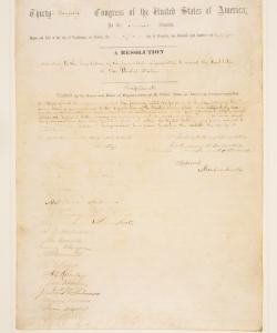 13th Amendment.  (Credit: Sotheby's)