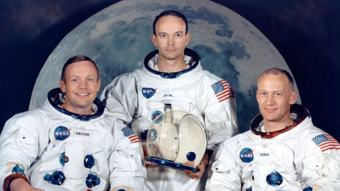 Crew of Apollo 11. (Credit: Nasa)