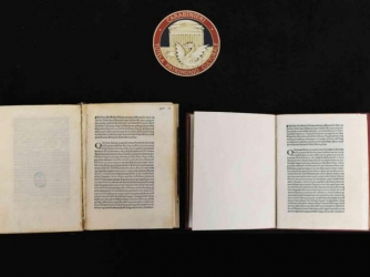 Recovered letter of Christopher Columbus on the discovery of America	photo information. (Credit: CARABINIERI)
