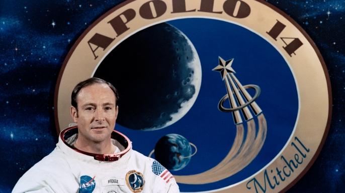Astronaut Edgar D. Mitchell, lunar module pilot of the Apollo 14 lunar landing mission. (Credit: NASA)