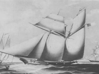 United States Navy schooner USS Wanderer. (Credit: Public Domain)