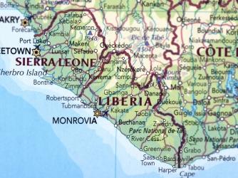 Map of Sierra Leone and Liberia. (Credit: omersukrugoksu/www.istockphoto.com)