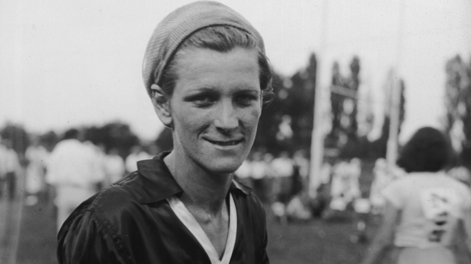 Babe Didrikson Zaharias wearing training clothes.  (Credit: New York Times Co./Getty Images)