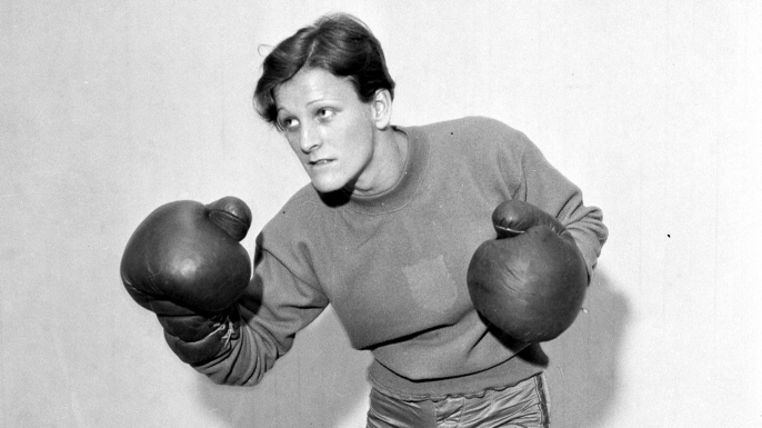 Babe Didrikson working out in the gym.  (Credit: NY Daily News Archive/Getty Images)