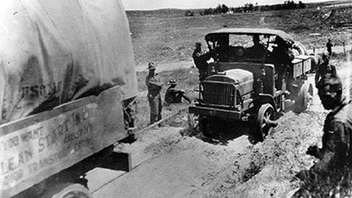 Helping along a 'B.' (Credit: Eisenhower Collection)