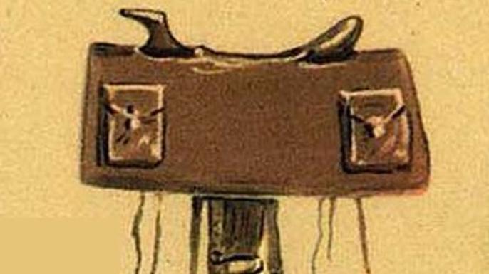 Mochilla saddled used by Pony Express riders. (Credit: Public Domain)