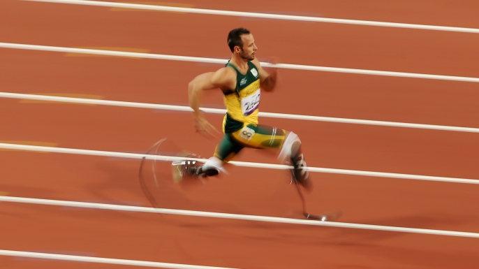 Oscar Pistorius at the London 2012 Paralympic Games. (Credit: Scott Heavey/Getty Images)