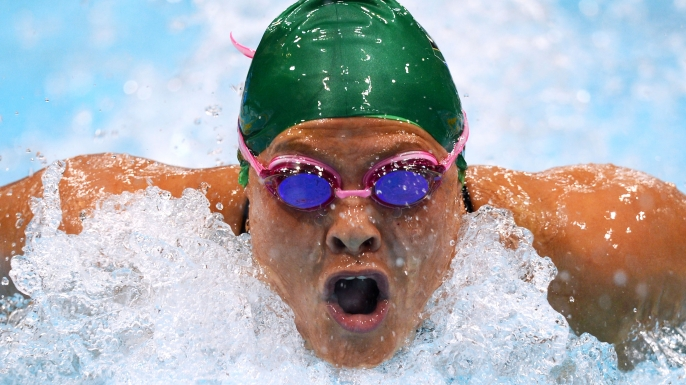 Natalie du Toit competes at the London 2012 Paralympic Games. (Credit: Gareth Copley/Getty Images)