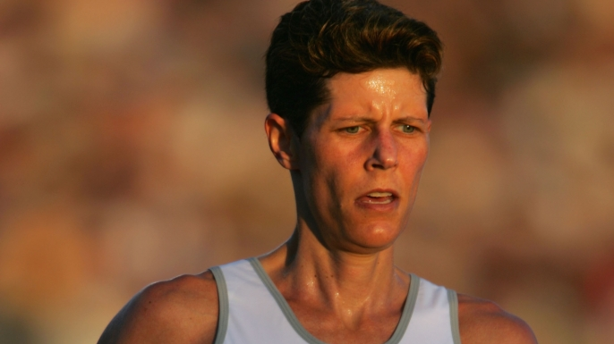 Marla Runyan at the 2004 U.S. Olympic Track and Field Trials. (Credit: Andy Lyons/Getty Images)