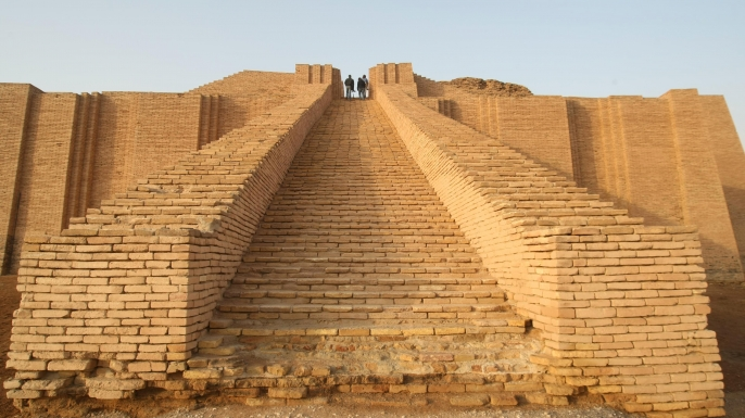 The stepped Ziggurat temple. (Credit: ESSAM AL-SUDANI/AFP/Getty Images)