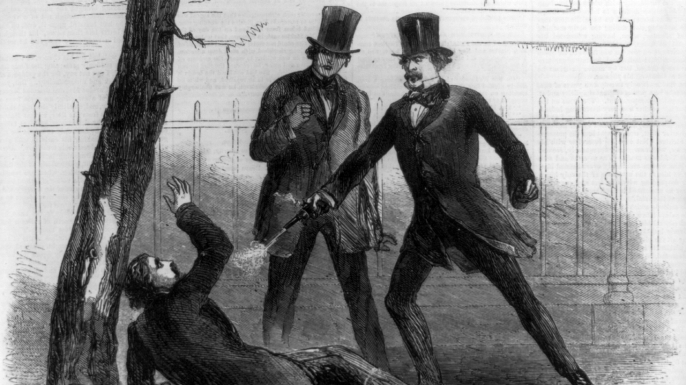Homicide of Philip Barton Key II by Daniel Sickles. (Credit: Library of Congress)