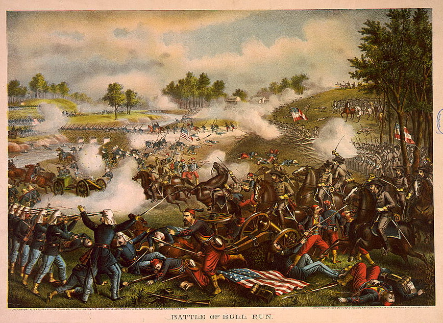 A history of the battle of bullrun manassas in the civil war of america
