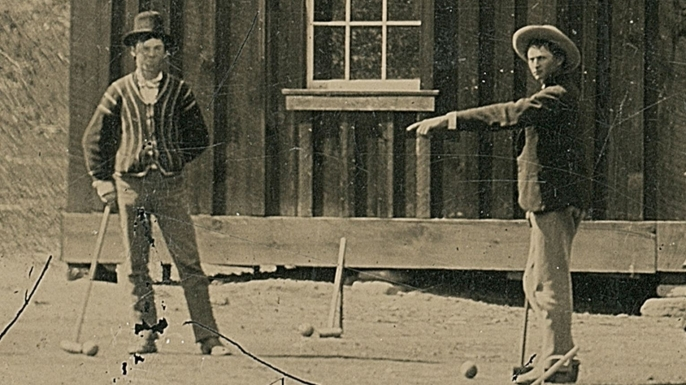 Photo that purportedly shows Billy the Kid on the left.