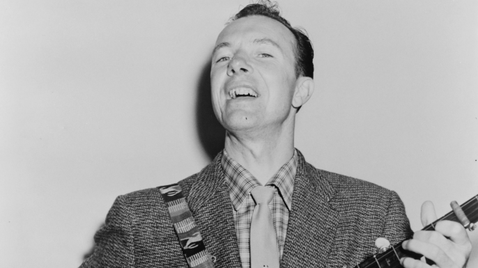 Pete Seeger in 1955.