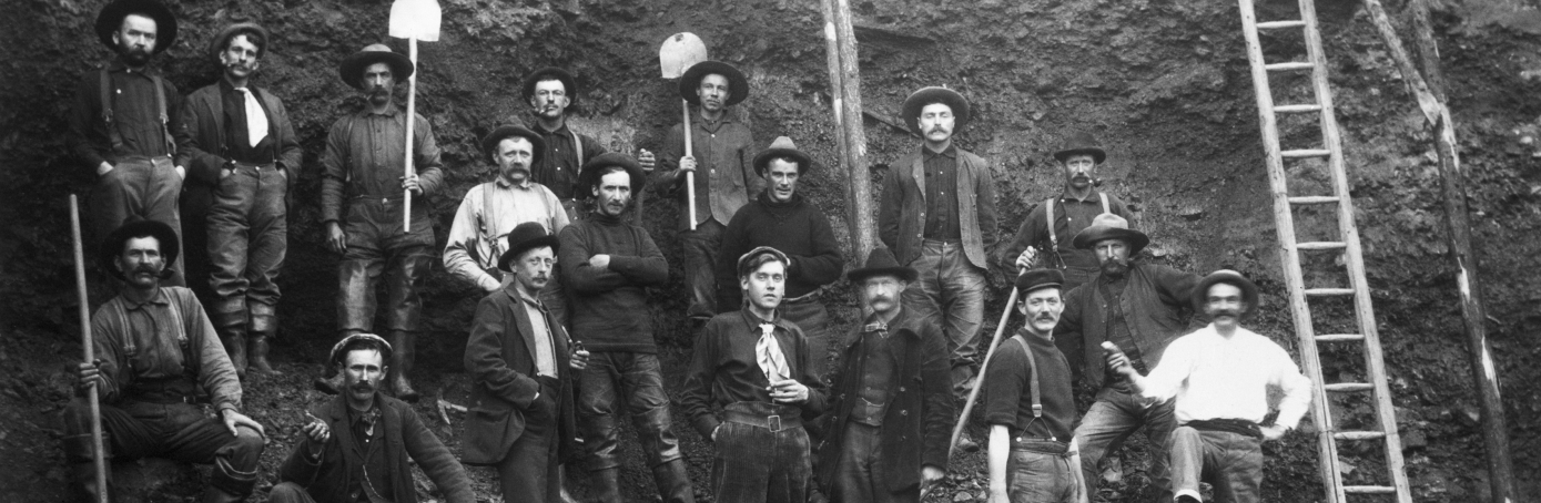 Miners during the Klondike gold rush.