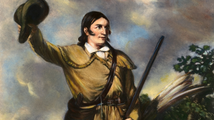 Portrait of Davy Crockett by J.G. Chapman.