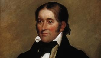 Portrait of Davy Crockett by John Neagle