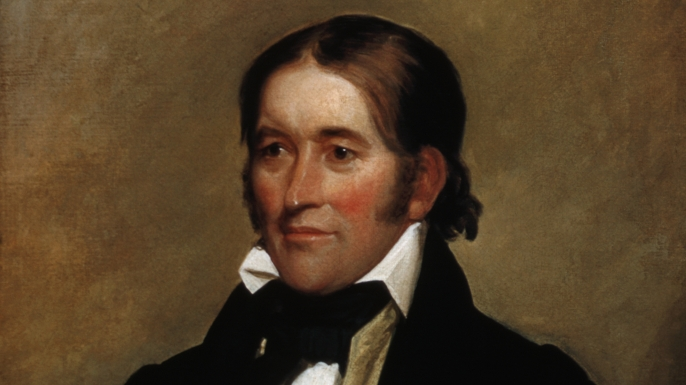 Portrait of Davy Crockett by John Neagle