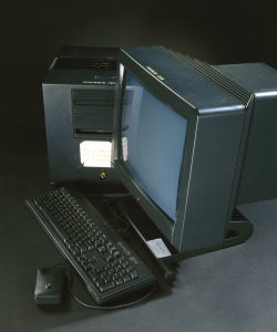 This computer was used at CERN by British scientist Tim Berners-Lee to devise the World Wide Web (WWW).  (Credit: SSPL/Getty Images)