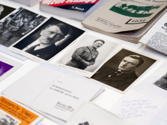 Photographs and documents from a Nazi time capsule found in Szczecin, Poland. (Credit: EPA/TOMASZ MURANSKI POLAND OUT)