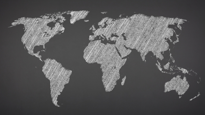 Why are countries classified as first second or third world world map on blackboard sciox Image collections