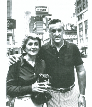 Greta Friedman at a reunion with George Mendonsa c. 1980.