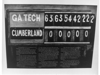 Georgia Tech and Cumberland football game scoreboard from 1916. (Credit: SCP Auctions)