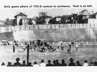 Photo of the 1916 Georgia Tech and Cumberland football game. (Credit: SCP Auctions)
