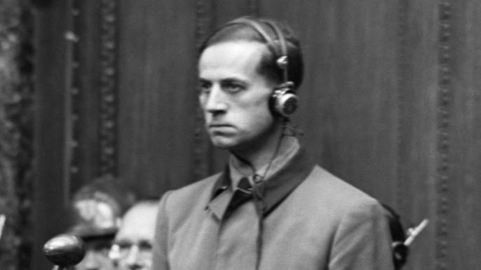 Karl Friedrich Brandt, Hitler's personal doctor, on trial in 1947.