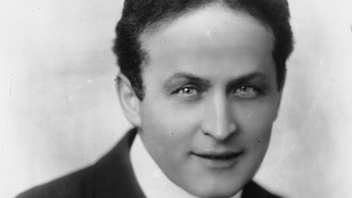 Hungarian-born American magician and escape artist Harry Houdini