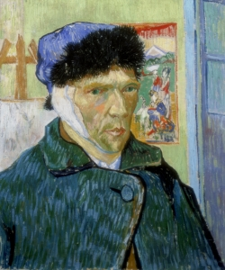 """""""Self-Portrait with Bandaged Ear"""" by Vincent van Gogh."""