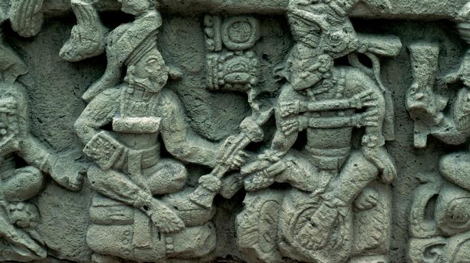 Statuary art in Copan.