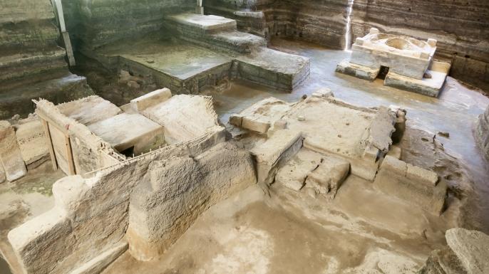 Archaeological site at Joya de Ceren.