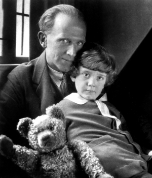 A.A. Milne with his son, Christopher Robin.