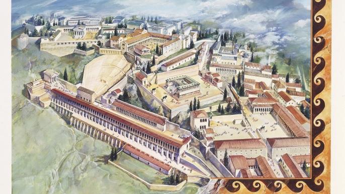 Reconstruction of Pergamon.  (Credit: De Agostini/Getty Images)