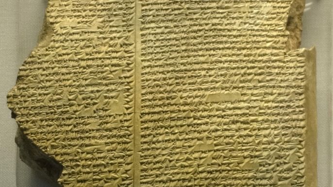 Part of a clay tablet, Neo-Assyrian. (Credit: Public Domain)