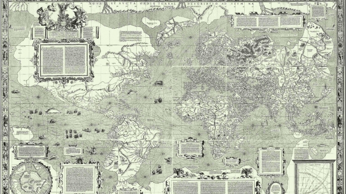 Mercator's 1569 map—the first to employ his projection style. (Credit: Public Domain)