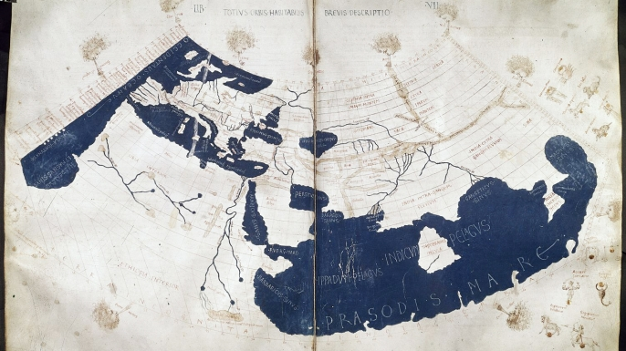 Medieval reconstruction of one of Ptolemy's maps. (Credit: Public Domain)