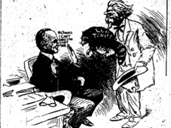 Political Cartoon from Washington Evening Star of November 27, 1926 featuring Coolidge and Rebecca.