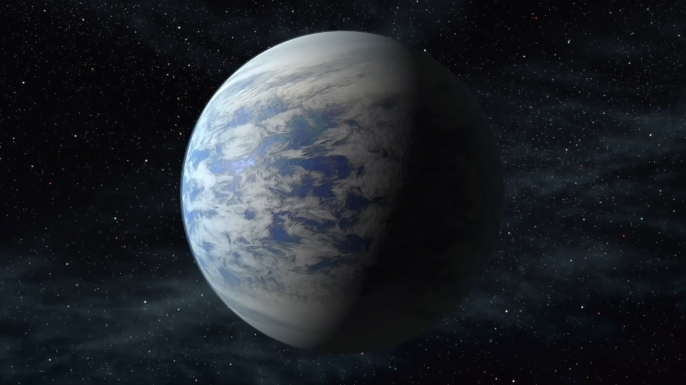 Artist rendering of a blue planet. (Credit: Project Blue)